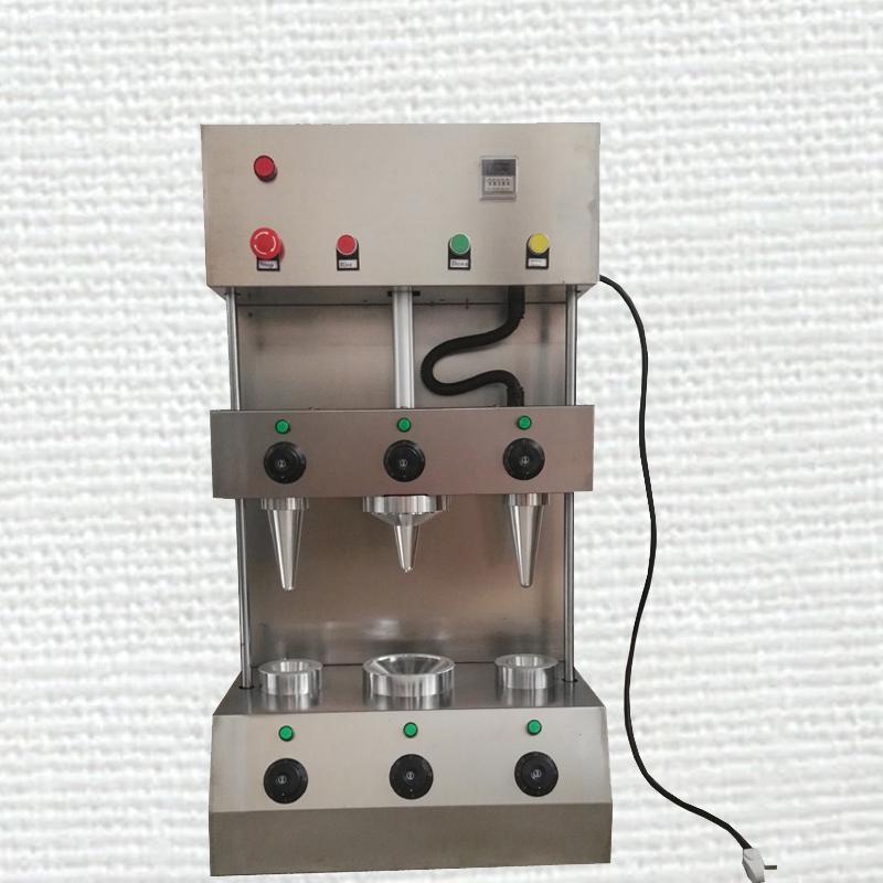 Vendita nuovo distributore automatico di pizza a cono cono di pizza in acciaio inox macchina con due coni e un ombrellone libero di trasporto
