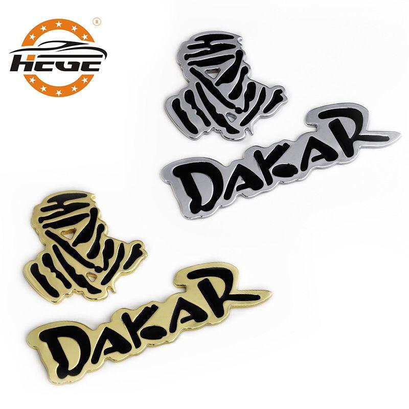 دراجات نارية 3D ملصقا المعادن للجسم داكار شعار رالي على الطرق الوعرة SUV السيارة الخلفي جذع شارة نافذة للدراجات النارية