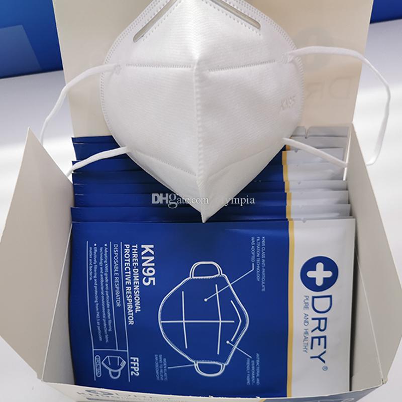 KN95 белое лицо маски никакого значения анти-пыль защитный пылезащитный РМ2.5 защитные маски DHL бесплатная доставка