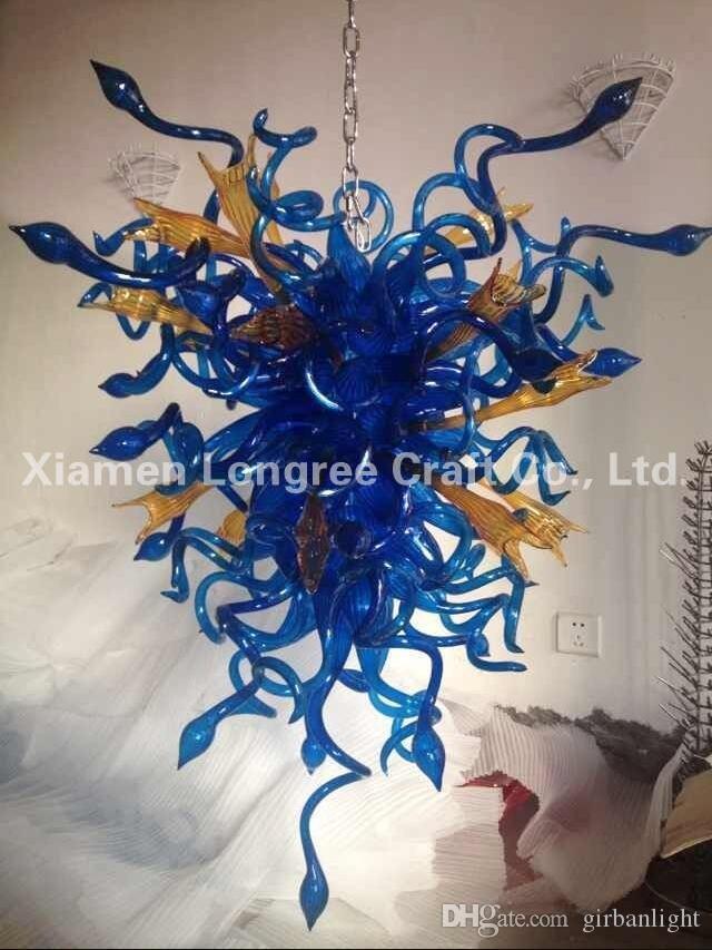 Zhongshan Lámpara de fábrica de lámpara de lámpara AC 110V 240V 100% Hecho a mano Blown Murano Vidrio Lámparas colgantes Italia Diseñado Lámparas de araña