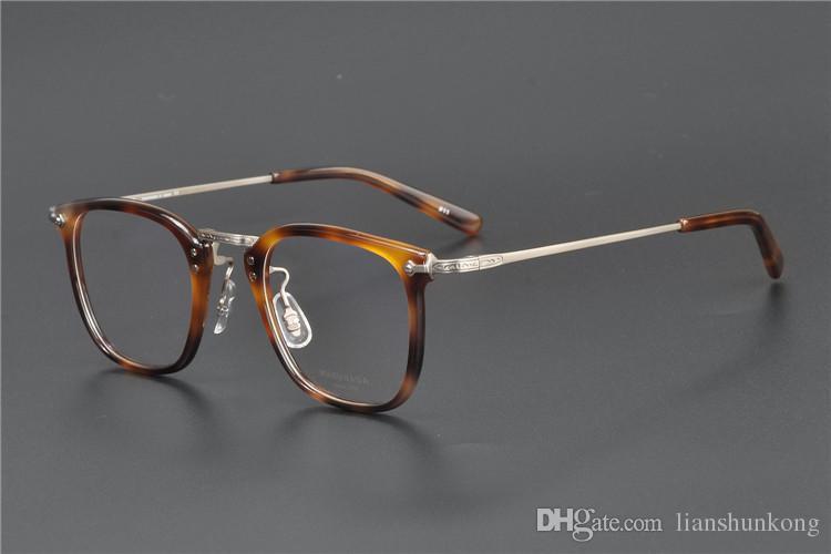 L'alta qualità di titanio Ultralight limitati GMS-817 edizione stile vintage royal ottica montatura di occhiali miopia la scatola originale