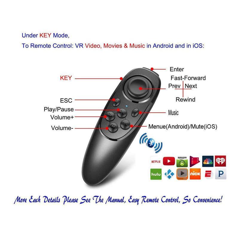 AABB-VR telecomando gamepad controller Bluetooth VR Video, film, giochi, selfie, flip E-Book / Ppt / Nook pagina, mouse, 3D Glasse