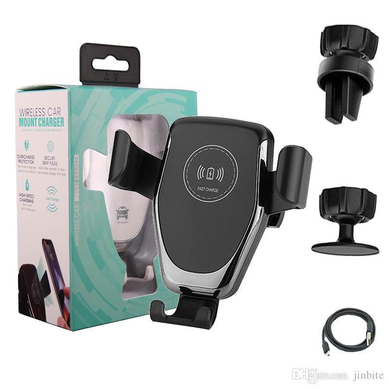 Kablosuz Şarj Qi Hızlı Şarj Araç Şarj için Samsung Note Uyumlu 10 S10 Artı Yerçekimi Telefon Tutucu Araç Montaj Standı Şarj