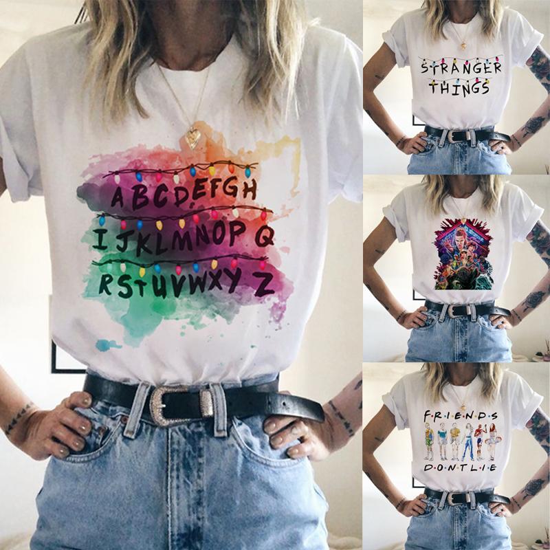 Stranger Things 3 T-shirt Harajuku Streetwear femmes Hip Hop Top T-shirts manches courtes Camisetas Kpop T-shirts T-shirts graphique hommes