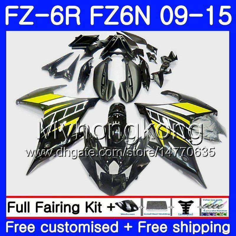 Корпус для YAMAHA FZ6N FZ6 R FZ 6N fz6r 09 10 11 12 13 14 15 черный желтый горячий 239HM.13 ФЗ-6р ФЗ 6р 2009 2010 2011 2012 2013 2014 2015 обтекатели