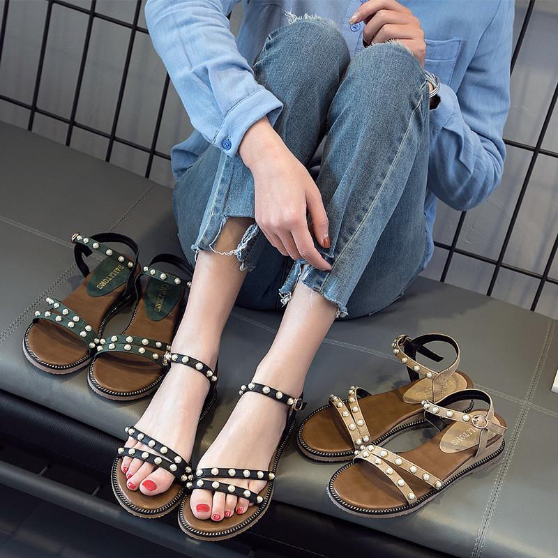 Женщины пляжные сандалии бисероплетение Diomand украшения дамы девушки любят носить модные стильные молодые свежий стиль тапочки потертости обувь от adibag