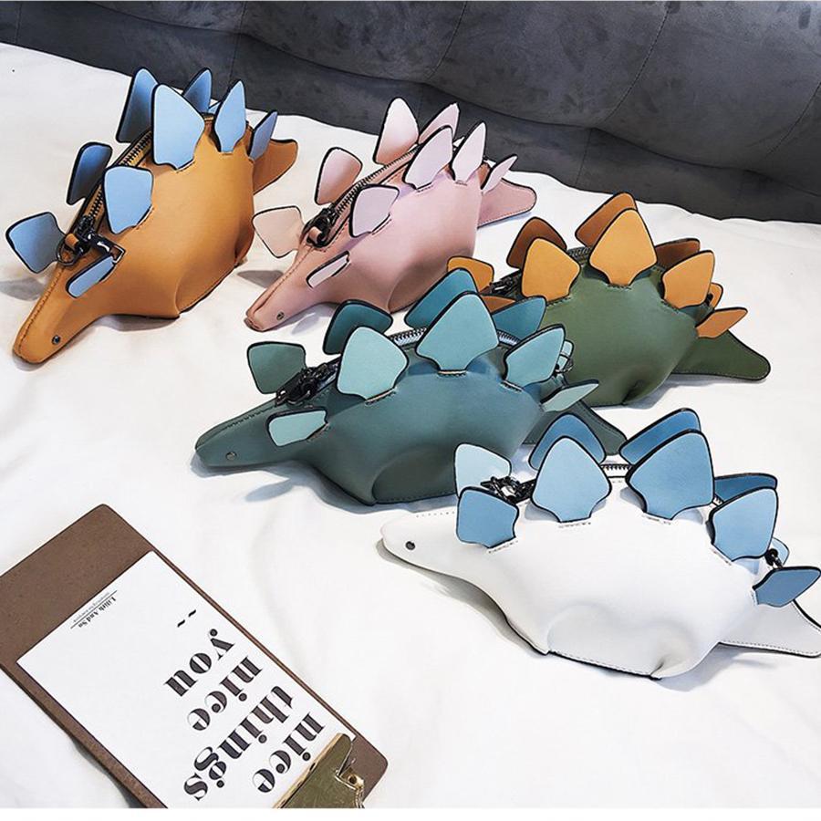Dusun Yaratıcı Bukalemun Karikatür Çanta Flap 3d Komik Dinozor Hayvan Messenger Çanta Panelli Omuz Crossbody Çanta Kız Hediye MX190725