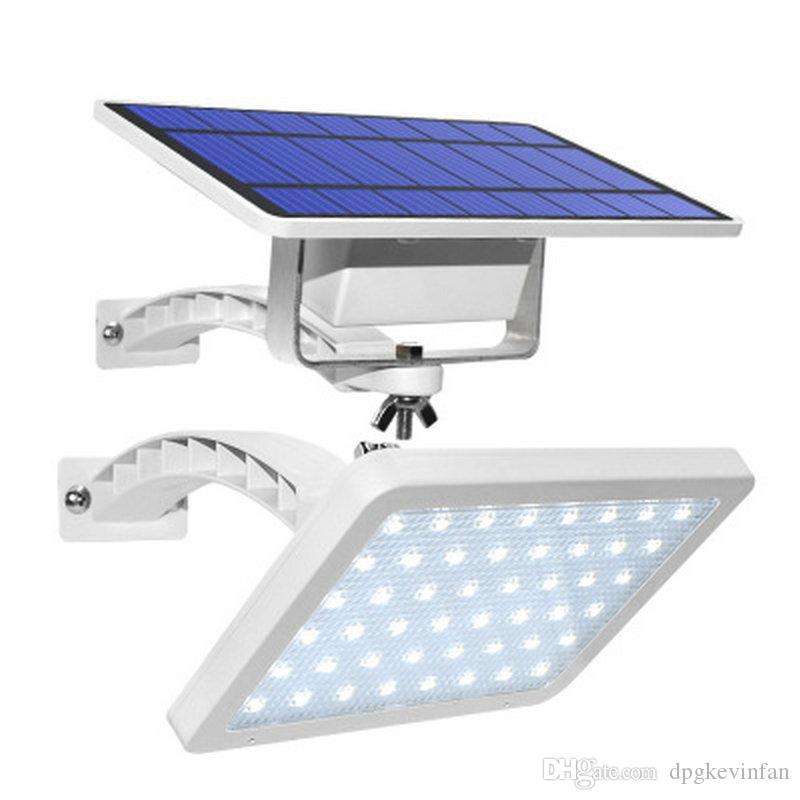 Frete grátis Spotlight impermeável poderosa Ar Livre parede LED solar com painéis solares bateria solar para Exterior Dacha