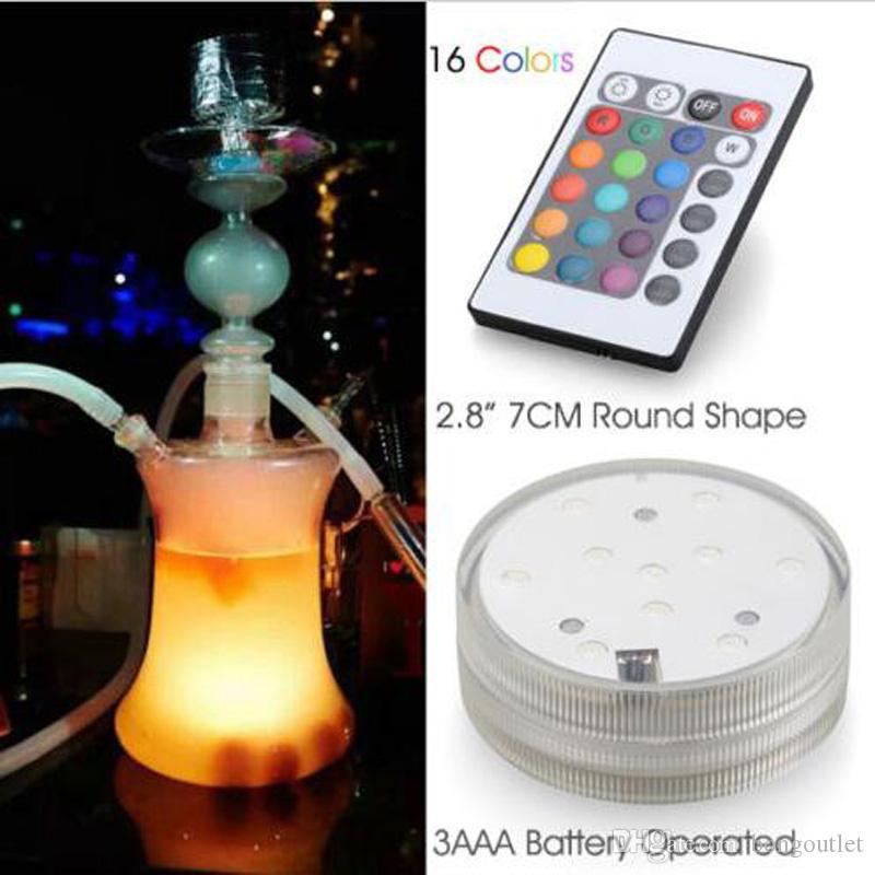 Светодиодные огни Большой дымовой стеклянный стекло Shisha Cookah Silicon Hose Beautiful Color дает фантастическое чувство опыта необычных