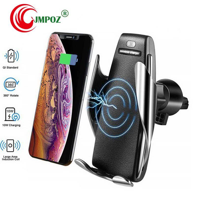 2019 автомобиля Беспроводное зарядное устройство Автоматический датчик для iPhone Xs Max Хг X Samsung S10 S9 Интеллектуальный инфракрасный Быстрая Wirless зарядки автомобиля телефон владельца