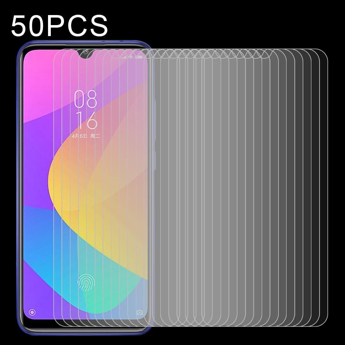 Para Xiaomi Mi CC9e 50 PCS-screen Meio transparente de vidro temperado Film