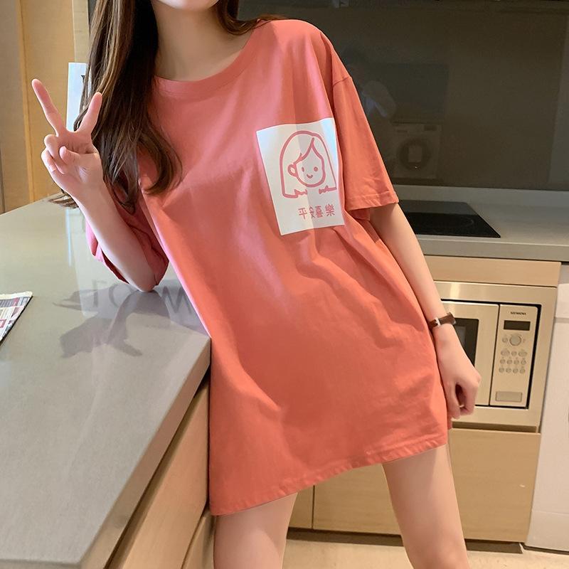 ClPsG hsbck 2020 coreana stampata stile estate grandi dimensioni studente sciolti di media lunghezza T-shirt amiche fa cima nuove donne maglietta a maniche corte