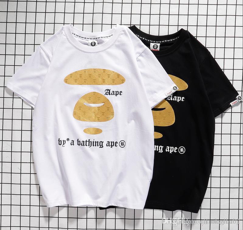 testa scimmie tshirt pullover corto camo un uomo balneari progettista delle donne magliette AAPE shirt T-shirt HIP HOP di lusso di marca scimmia per tee uomo Wile
