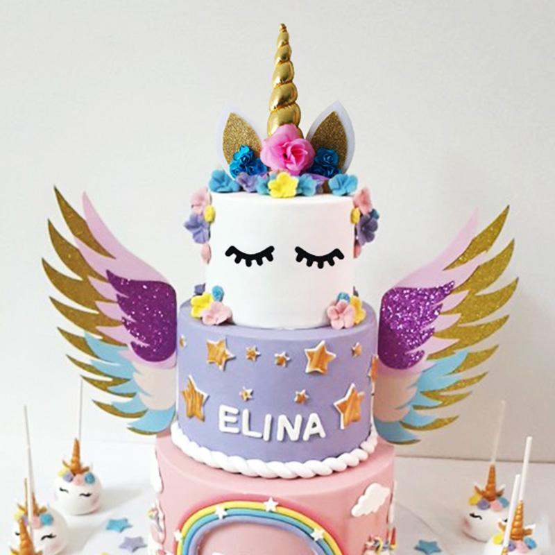 Prime Pink Princess Party Decorations Unicorn Headband Cake Topper Wall Personalised Birthday Cards Veneteletsinfo