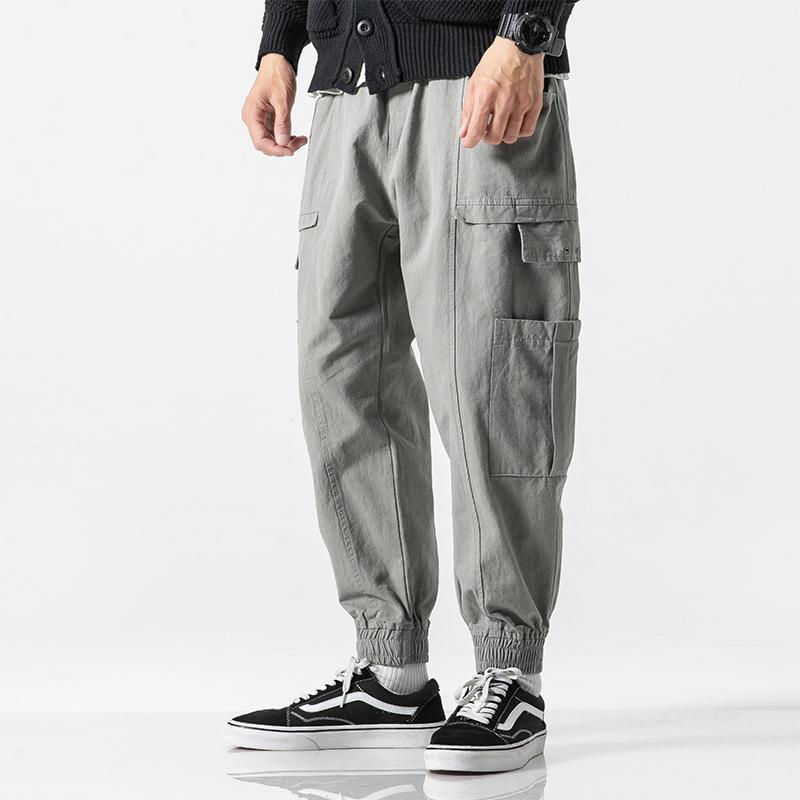 Hommes Streetwear Hip Hop Cargo Pantalons multi-poches en vrac Casual Harem pantalons Joggers Sweatpants Pantalons Homme Vintage