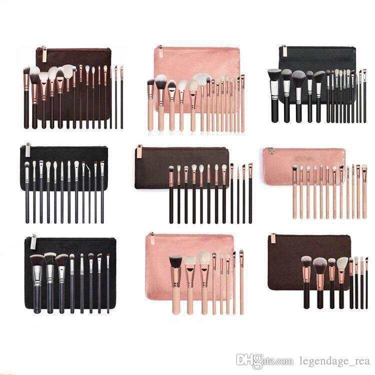 New Brand Z*OEV@ Brush Set Professional Makeup Brush Set Eyeshadow Eyeliner Blending Pencil Cosmetics Tools With makeup PU Bag