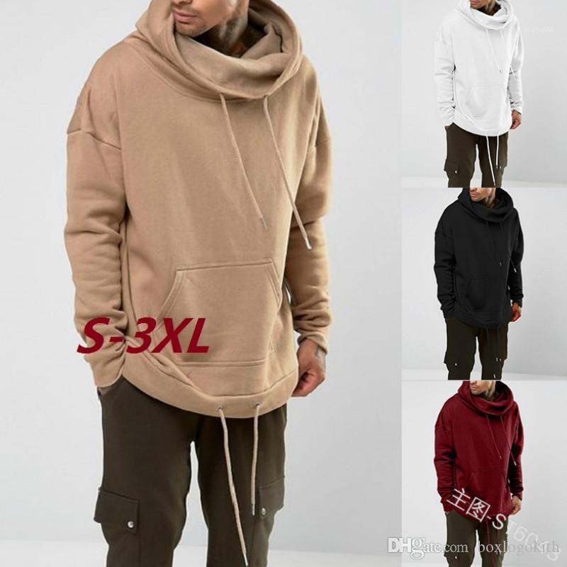 Herbst und Winter beiläufige lose langärmelige Kapuzen Sweater-Mode-Männer Hoodies Vlies-Männer Entwerferhoodies-Solid Color