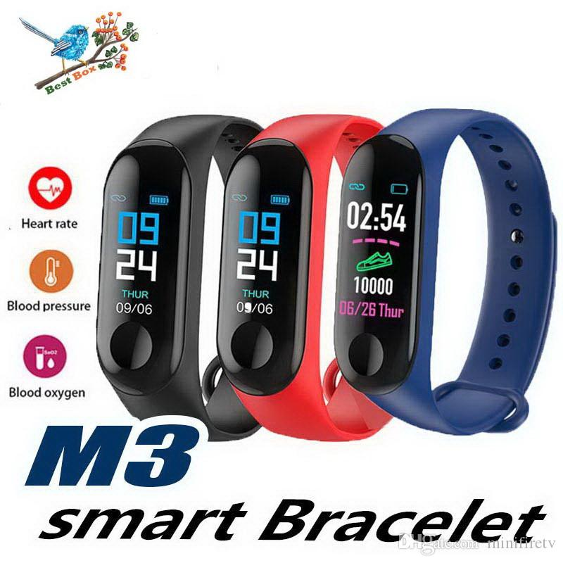 M3 Montre Smart Watch bracelet Hommes Femmes Moniteur de Fréquence Cardiaque Pression Artérielle Tracker de Fitness Smartwatch Sport Montre Horloge Intelligente Pour IOS Android