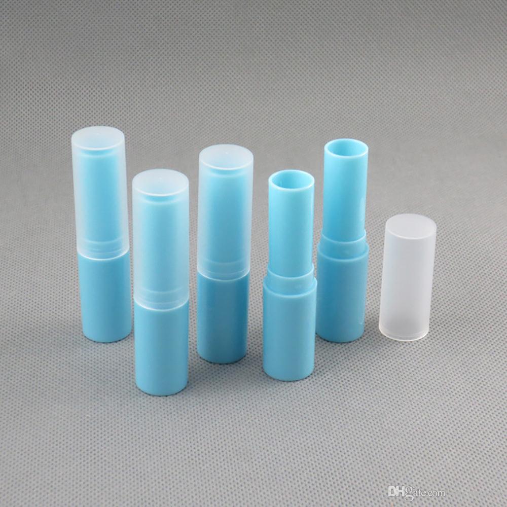 Sıcak satış DIY dudak kremi boş tüp, boş mavi ruj tüp ruj kozmetik ambalaj 4g 100pcs