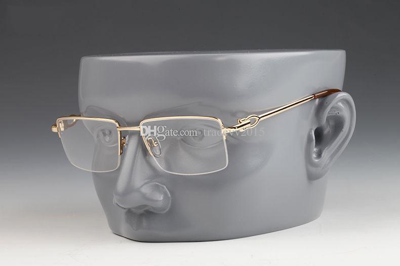2019 Optik Horn Buffalo Yarım Gözlük Altın Alaşım Moda Güneş Gözlüğü Yeni Siyah Ayna Metal Klasik Güneş Gözlüğü Retro Çerçeve Çerçeveleri NowMN