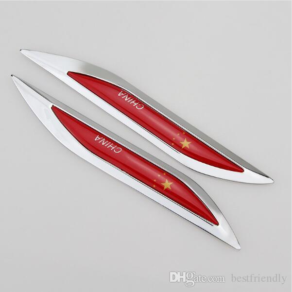 Haute Qualité Nouvelle Voiture Conçue Styling Noir Rline Nouveau Style Couteau Bord En Métal Étiquetage Autocollant Ailes Autocollant Auto Autocollant De Voiture badge