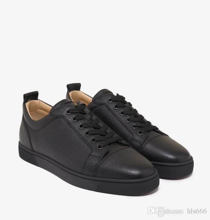 Rouge Hommes Bas Casual Chaussures de sport junior Flat Black Grain Baskets en cuir antulow junior plat Hommes Bas Chaussures Noir Blanc en cuir véritable