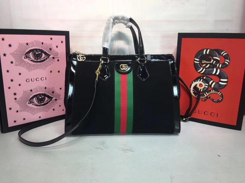 Kırmızı ve yeşil kurdele marka karakteristik klasik eleman çanta 02261101 ile süslenmiş Yeni yüksek dereceli yapay kanvas malzemesi,