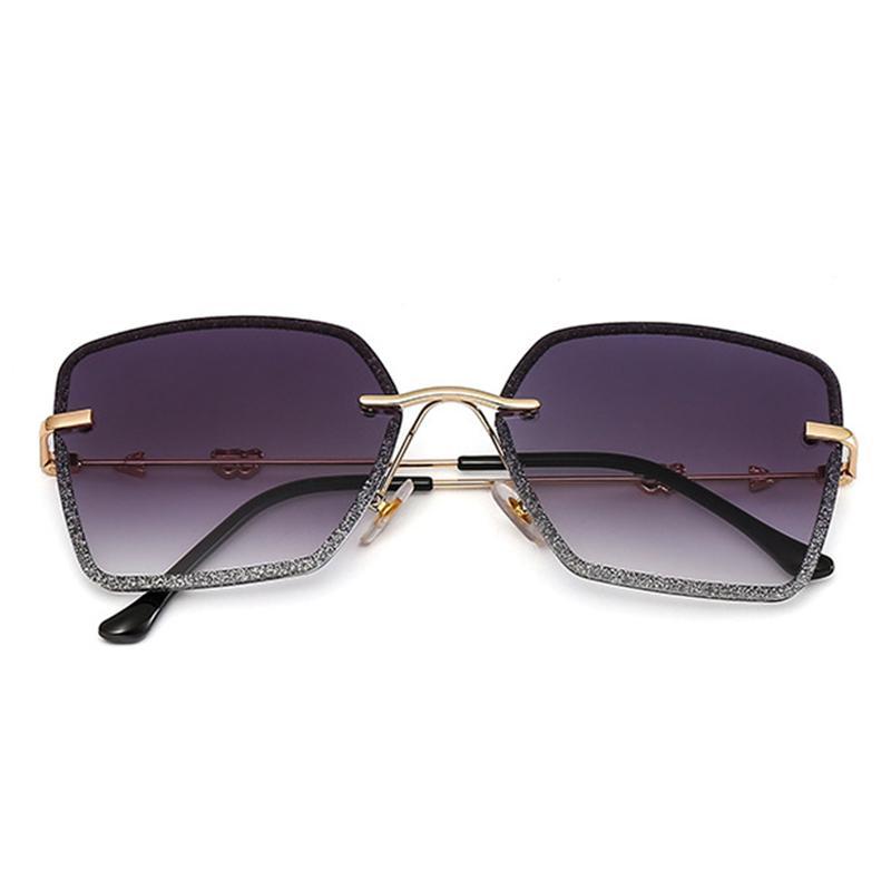 Quadrado da menina óculos de sol Mulheres Mosaic Vintage Colorido Cristal aro Sun Óculos Feminino Vogue Ss256