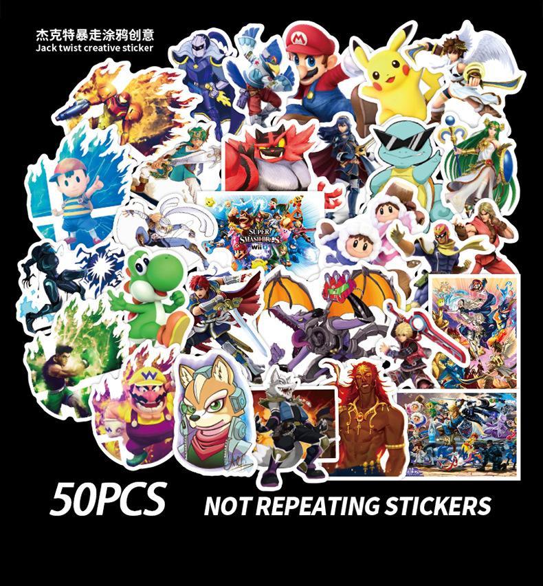 50 PCS Mixed Skateboard Aufkleber Fuzion japanischer Anime für Auto-Laptop-Auflage-Fahrrad-Motorrad PS4 Telefon Gepäck Pvc Gitarre Kühlschrank Aufkleber