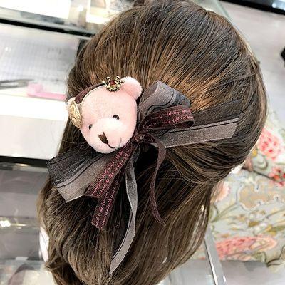 20190822 Crystal Crown Bear Head Chiffon Butterfly Ring