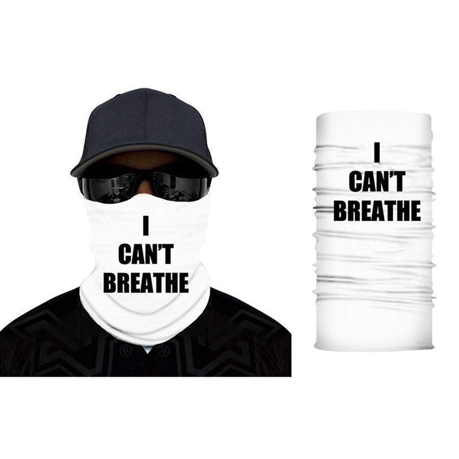 Я не могу дышать солнцезащитный крем головной уборной шарф лето на открытом воздухе на открытом воздухе волшебная маска черная жизнь материи лица анти пыль маски рра3166