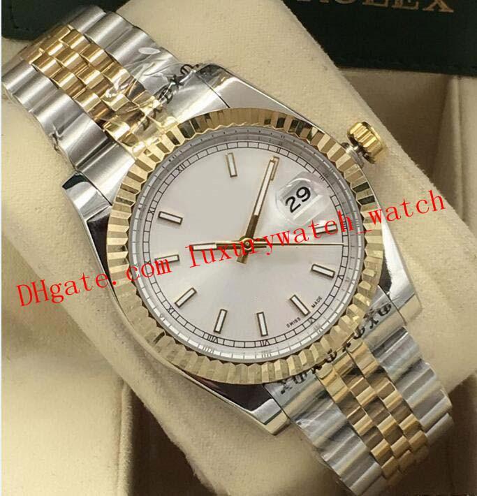 Hot Sales Luxury Watch Mens 36mm 116233 116234 Silver Gold steel Bracelet Arabic Romen Automatic Fashion Men's Watch Wristwatch