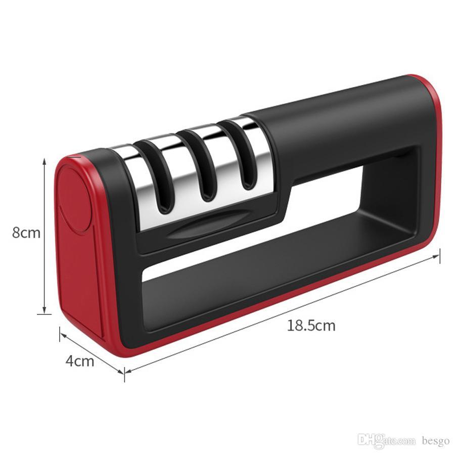 mutfak Aksesuarları Paslanmaz Çelik Profesyonel Mutfak Bıçak Keskinleştirme Makinesi Fonksiyonlu Plastik Saplı Bıçak Bileyici DH0552 T03