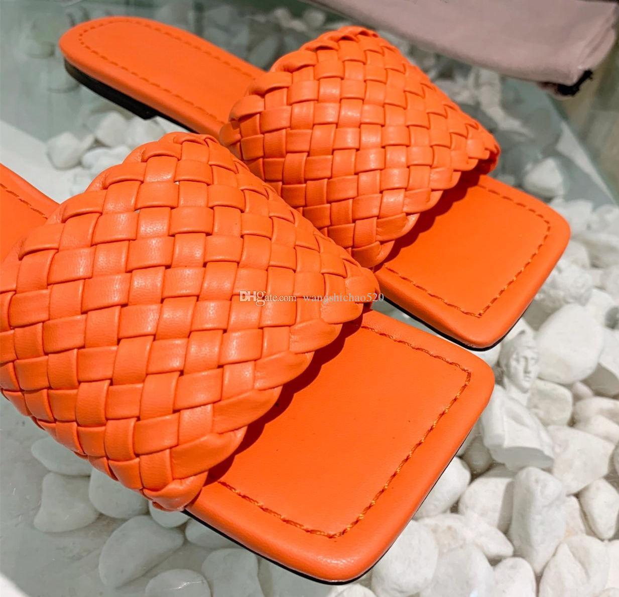 2019 hommes de concepteur de luxe de haute qualité et des femmes tête carrée sandales en caoutchouc d'été pantoufles vêtements de mode de glissement de plage chaussures d'intérieur de taille 35-42 w