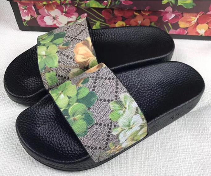 2020 Designer flower printed beach flip flops slippers Fashion slide sandals slippers for men and women causal slippers siz 35-45