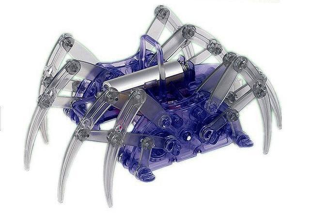Expérience scientifique Jouets bricolage araignée robot pour les enfants électriques jouets éducatifs Assemble Kits