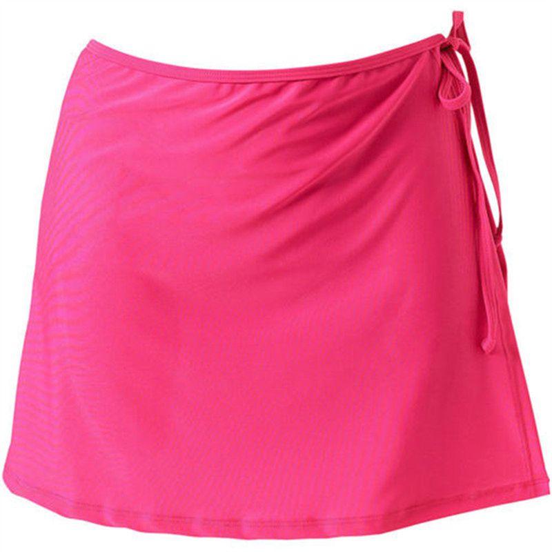 aSummer Женщины моды Beach Vacation бикини юбка Сплошной цвет Lace-Up мини-юбки Женский Swim Bikini Bottom Продажа Hot
