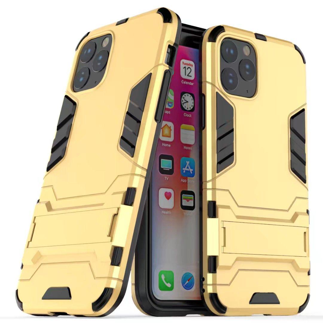 فاخر حامل درع حامل القضية للحصول على هاتف اي فون برو 11 ماكس XR الصبغي X X حالة TPU الهجين + PC غطاء للصدمات للحصول على 7 8 زائد 6 6S