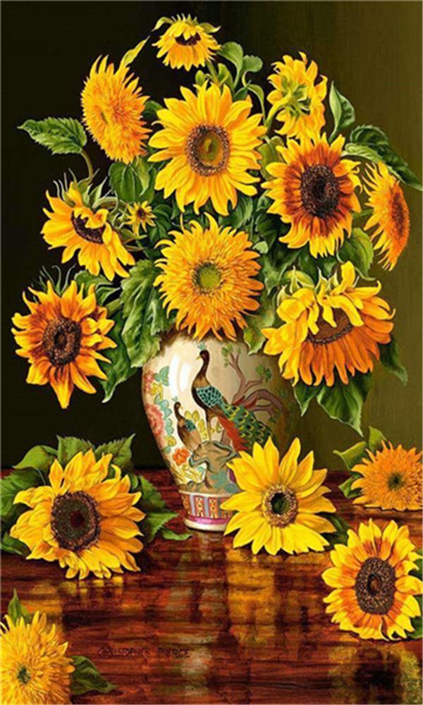 5D Алмаз вышивка цветок подсолнечника diy Алмаз живопись вышивки крестом комплект смолы полный квадратный Алмаз мозаика домашнего декора подарок BB0573