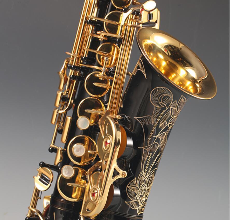 Personnalisé NOUVEAU Saxophone Alto Body Black Gold Key super professionnel de haute qualité Embouchure Sax livraison rapide