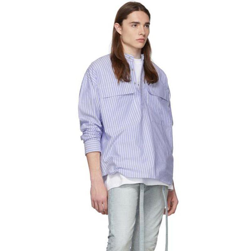 Chaqueta 19SS de Hip Hop de la calle Henley Pullover sexto CAMISETA Tops Casual capa de la vendimia de Protección Solar Calle Ropa Outwear la chaqueta T HFYMCS009