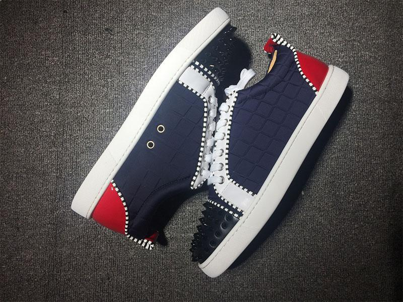 mens bottoms sapatos vermelhos para homens designer de baixo top moda picos cravejado apartamentos casuais das sapatilhas de fundo zapatillas des chaussures