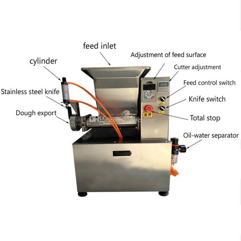5-500g grande taille en acier inoxydable pain rond diviseuse Bouleuse pâte machine à roulement à billes de coupe