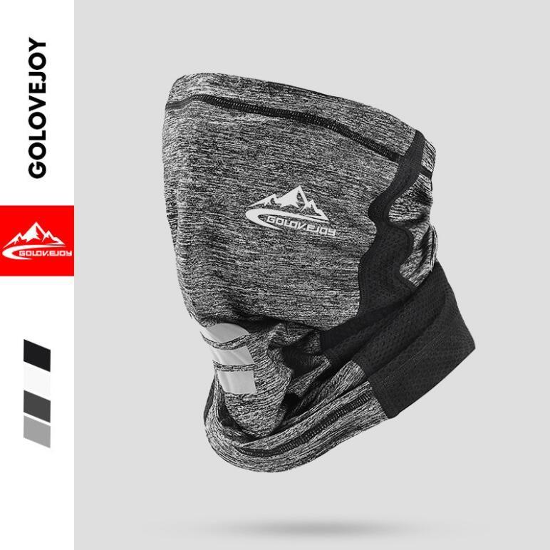Moda sciarpa multifunzionale del ghiaccio in seta crema solare Maschera Foulard Outdoor Sports Turbante Magia bandane Veil in bicicletta senza saldatura bandane