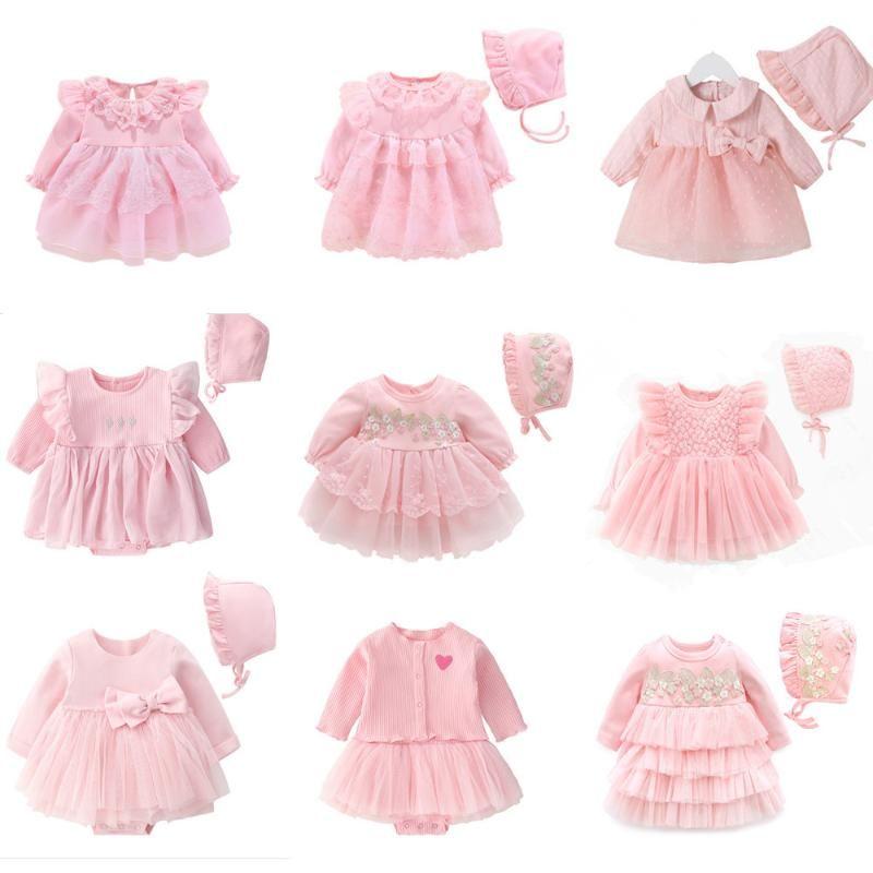 New born Baby Girl Princess DressClothes Baby Крещение платье 2020 младенческое Крещение платье vestidos 0 3 6 9 месяцев детские наряды