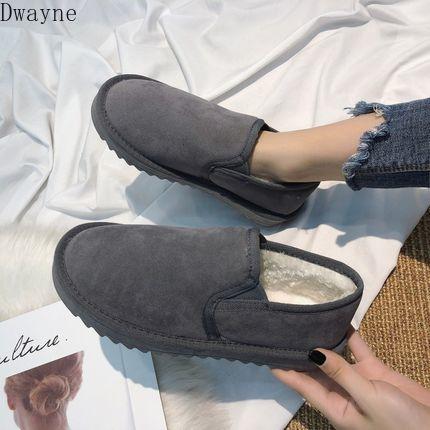 botas de neve 2019 novas botas curtas sapatos de algodão inverno lã pão