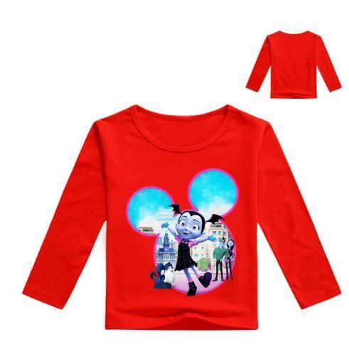 Girl Kids Vampirina Round Neck Shirt Short Sleeve Summer Casual Clothing T-shirt