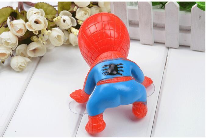 Мода новый 16 см для Человек-Паук игрушка восхождение Человек-Паук окно присоски для Человек-Паук кукла автомобиль украшения интерьера Дома 2 Цвет новый