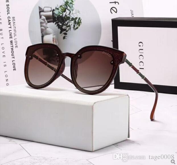 2020 Runde Metall Sonnenbrillen Designer Brillen Gold Flash Glasobjektiv für Frauen der Männer-Spiegel-Sonnenbrille Runde unisex Sonne Glasse 081