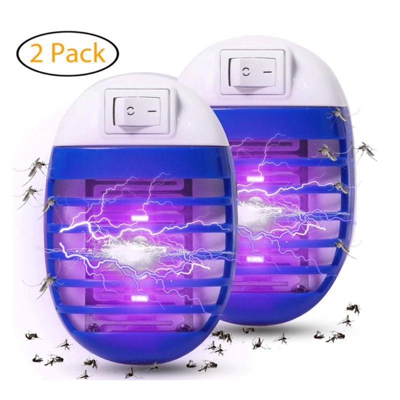 2PCS 모기 램프 버그 신랄한 비평 전자 곤충 킬러 실내 대부분의 비행 해충